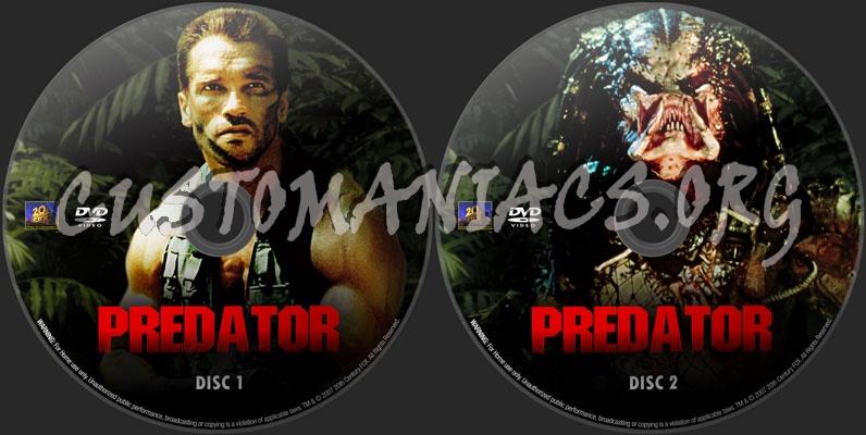 Predator dvd label