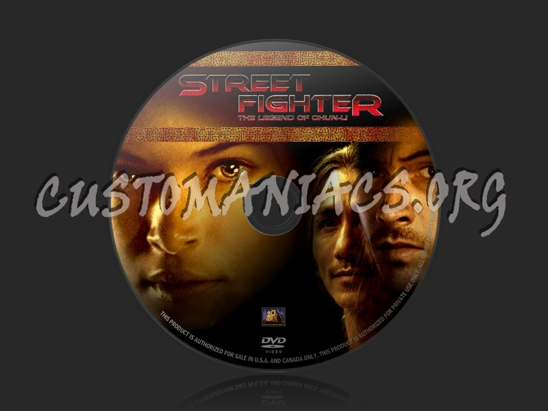 Street Fighter: The legend of chun-li dvd label