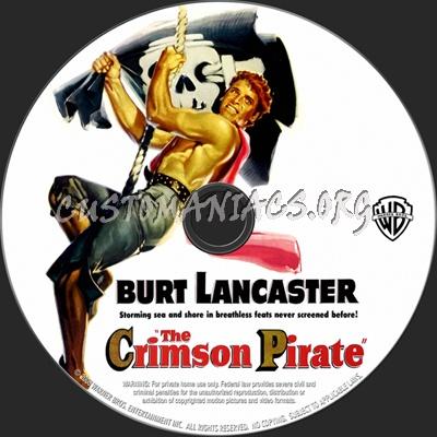 The Crimson Pirate dvd label