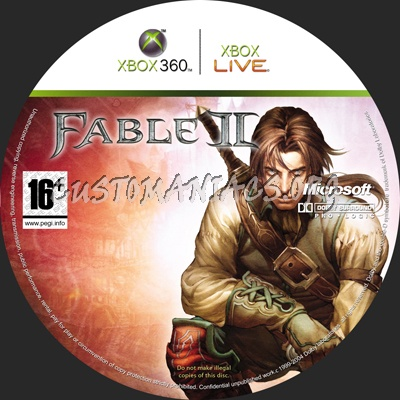 Fable 2 dvd label - DVD Covers & Labels by Customaniacs, id