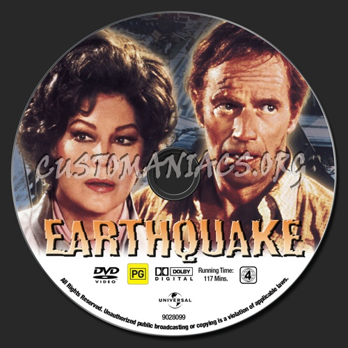 Earthquake dvd label