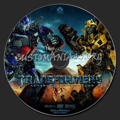 Transformers: Revenge of the Fallen dvd label