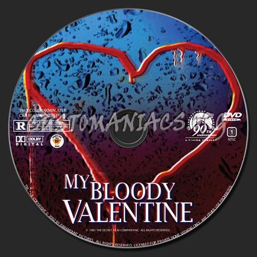 My Bloody Valentine (1981) dvd label