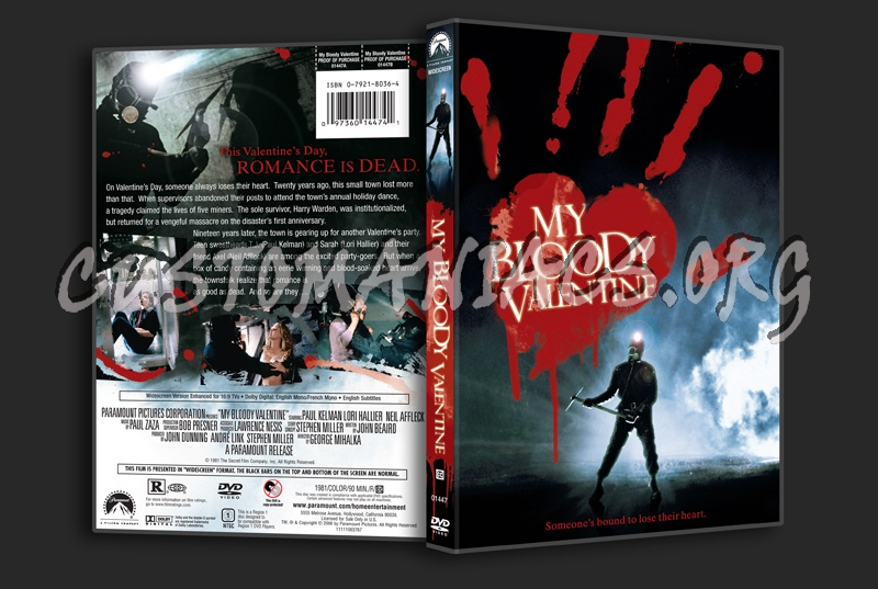 My Bloody Valentine (1981) dvd cover