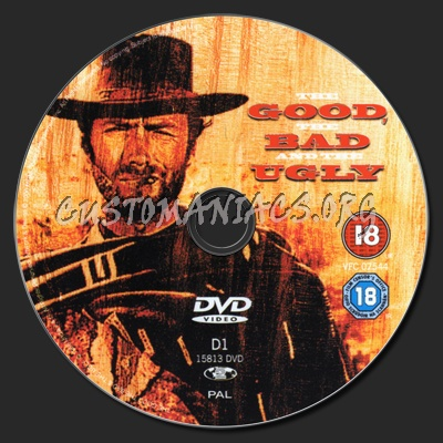 The Good The Bad and The Ugly dvd label