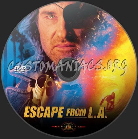 Escape from L.A. dvd label