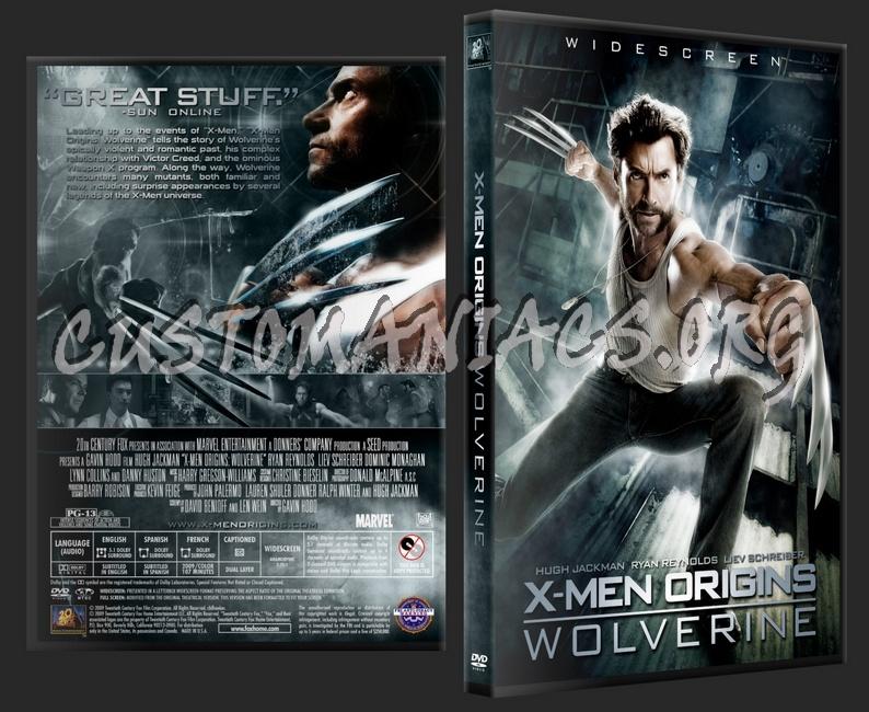 X-Men Origins Wolverine dvd cover