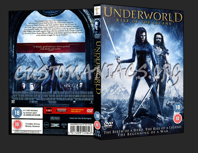 Underworld - Rise Of The Lycans dvd cover