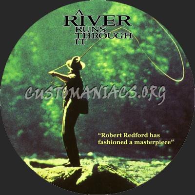 A River Runs Through It dvd label