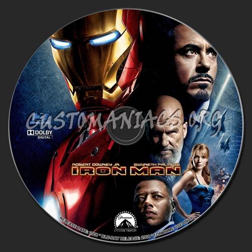 Iron Man blu-ray label