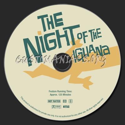 The Night of the Iguana dvd label