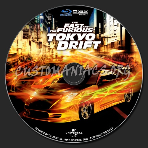 The Fast and the Furious - Tokyo Drift blu-ray label