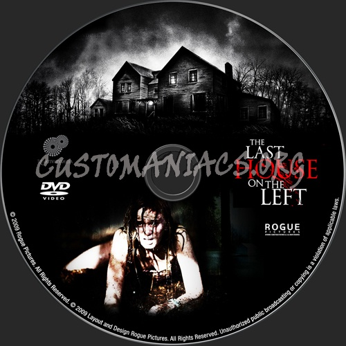 The Last House on the Left dvd label