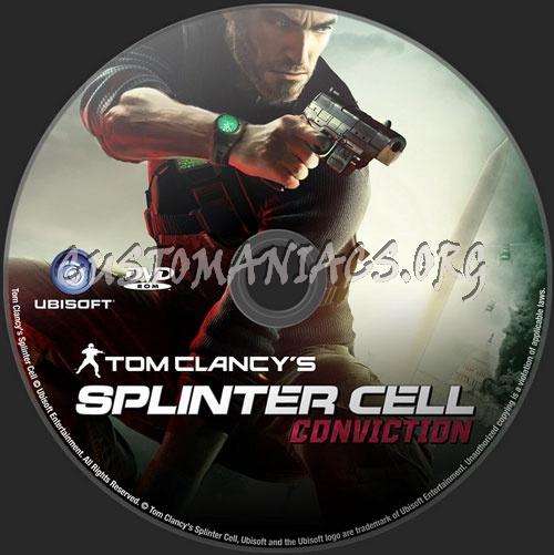 Tom Clancy's Splinter Cell Conviction dvd label