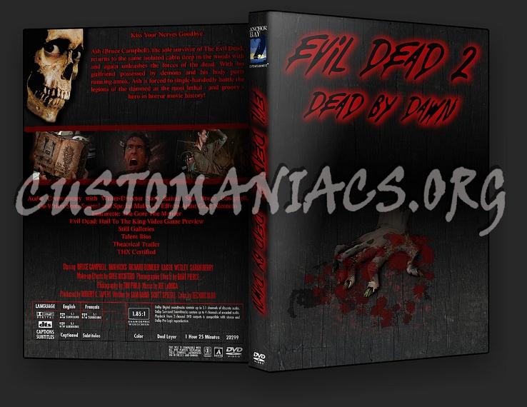 Evil Dead 2 dvd cover