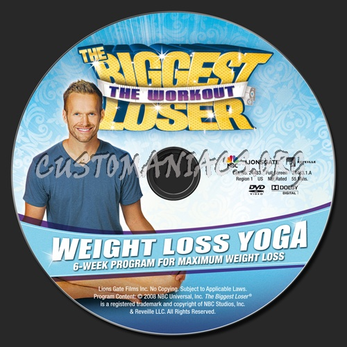 The Biggest Loser Weight Loss Yoga Dvd Label