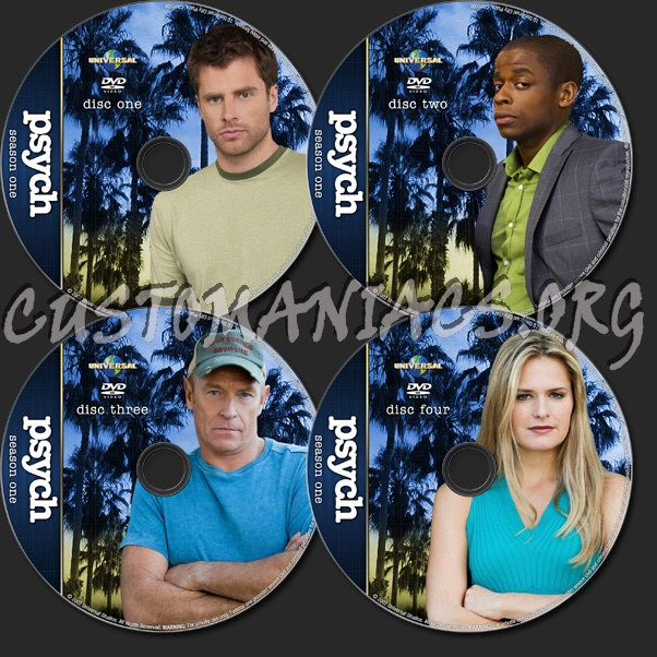 Psych - TV Collection dvd label