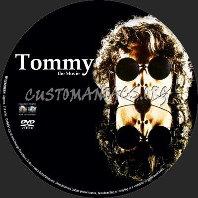 Tommy dvd label