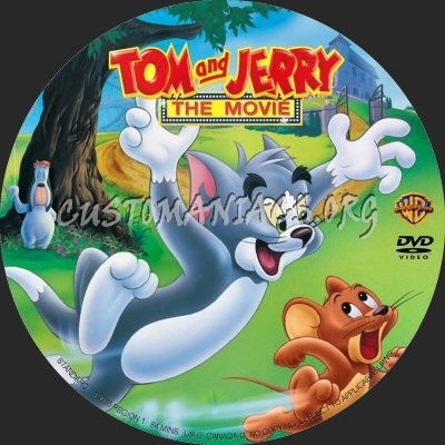 Tom and Jerry- The Movie dvd label