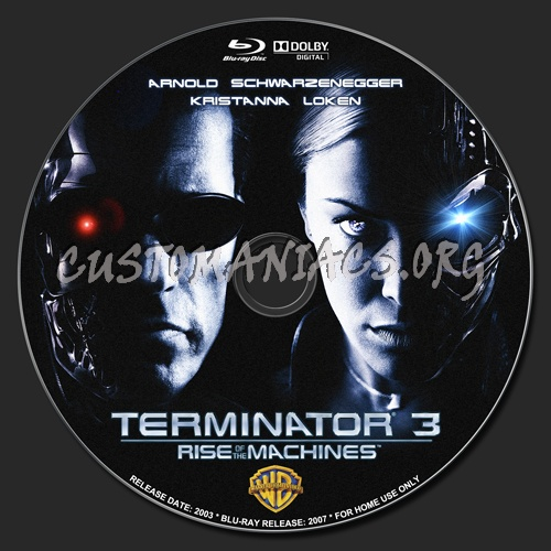 Rise Of The Machines Blu-ray Label