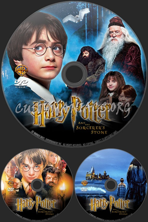 Harry Potter and the Sorcerer's Stone dvd label