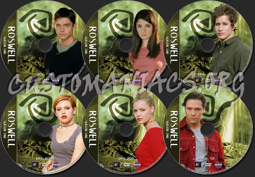 Roswell - TV Collection - Season One dvd label
