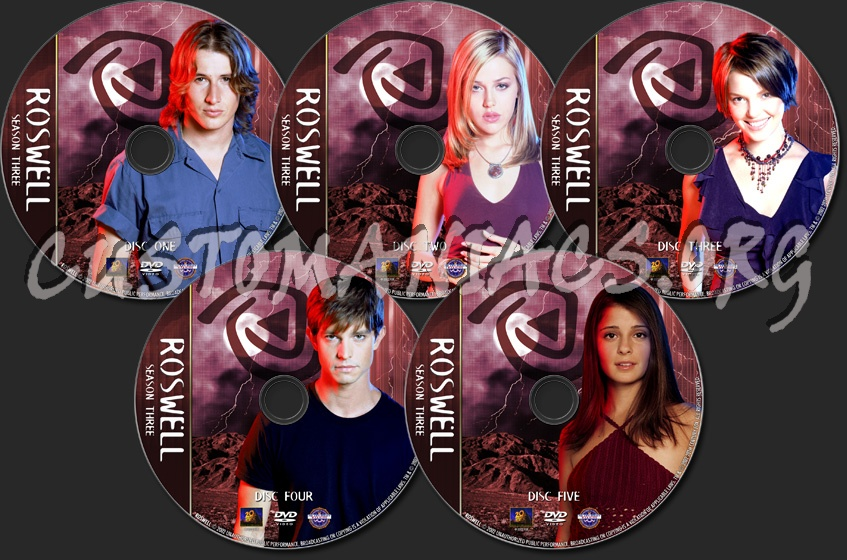 Roswell - TV Collection - Season Three dvd label