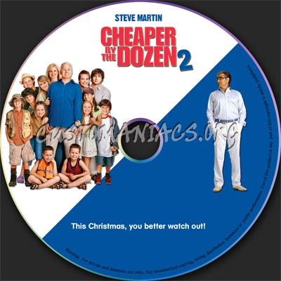 Cheaper By The Dozen 2 dvd label