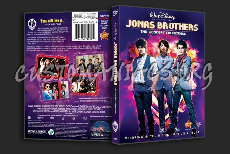 Jonas Brothers: The Concert Experience dvd cover
