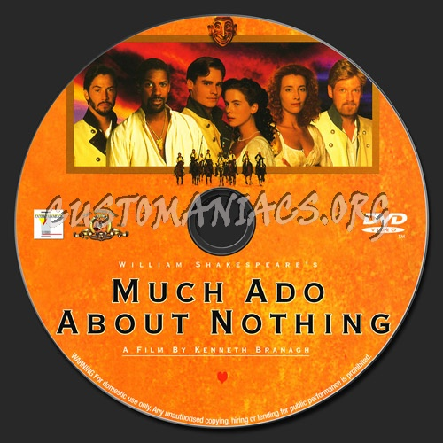 Much Ado About Nothing dvd label