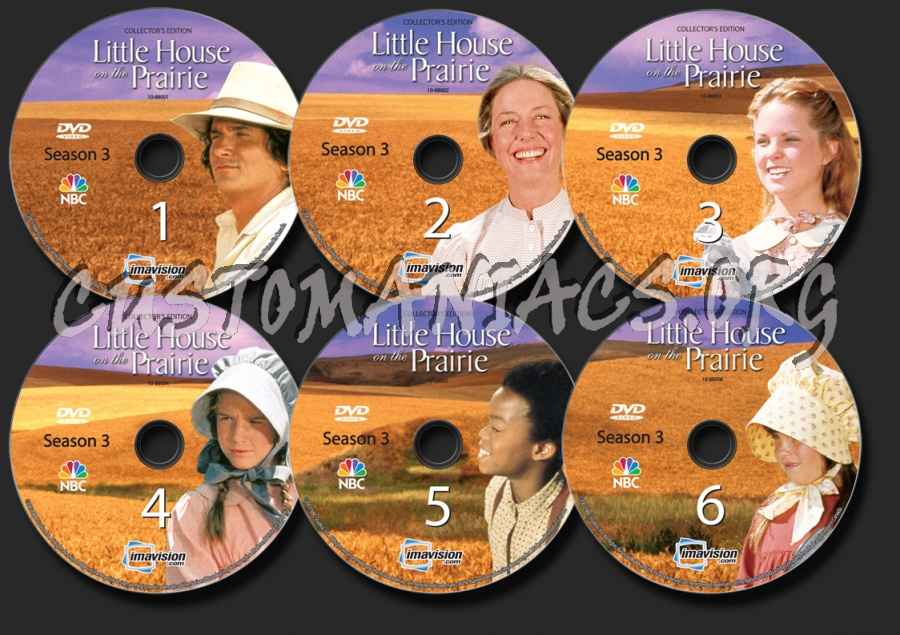 Little House on the Prairie Season 3 dvd label