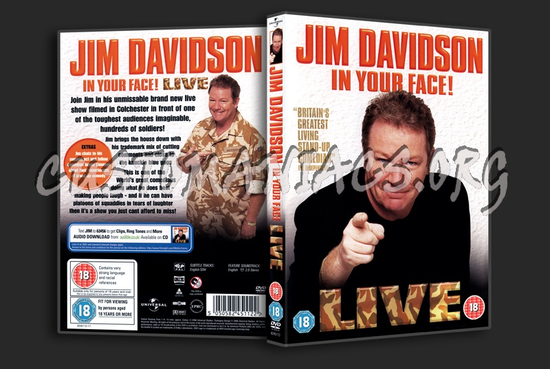 Jim Davidson in Your Face dvd cover