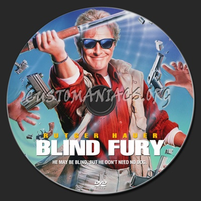 Blind Fury dvd label