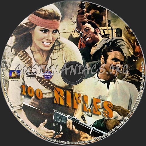 100 Rifles dvd label