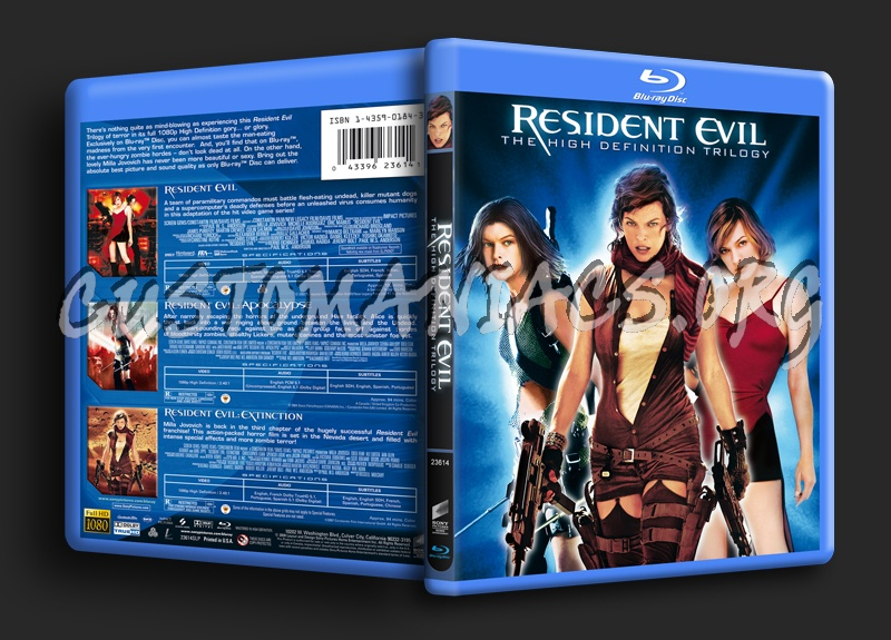 Resident Evil Trilogy blu-ray cover