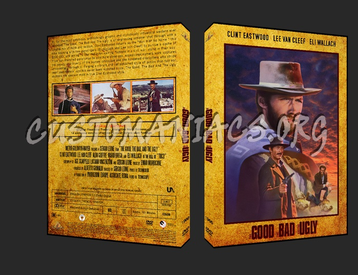 The Good, The Bad, and The Ugly 1966 dvd cover