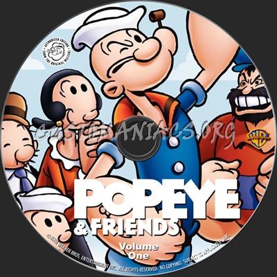 Popeye & Friends Volume One dvd label