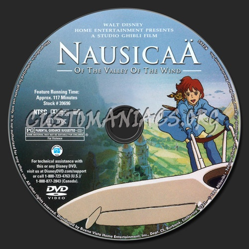 Nausicaa of the Valley of the Wind dvd label