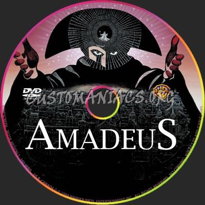 Amadeus dvd label