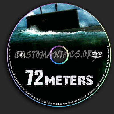 72 Meters dvd label