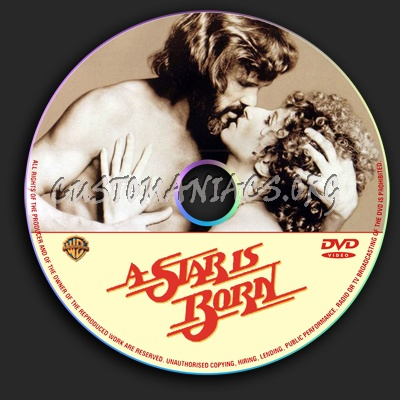 A Star Is Born dvd label