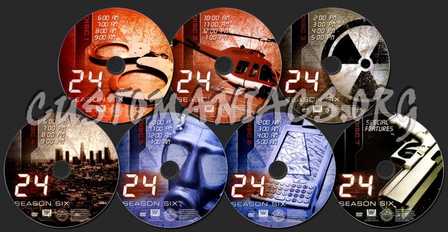 24 Season 6 dvd label