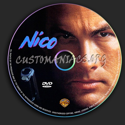 Above the Law - Nico dvd label