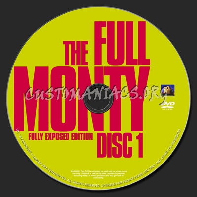 Full Monty-Fully Exposed Edition dvd label