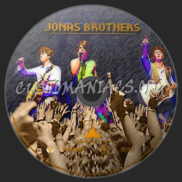 Jonas Brothers The Concert Experience dvd label