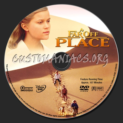 A Far Off Place dvd label
