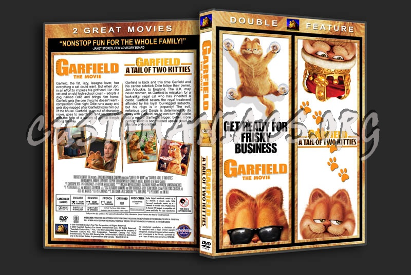 Garfield The Movie Garfield A Tale Of Two Kitties Double Feature Dvd Cover Dvd Covers Labels By Customaniacs Id 68274 Free Download Highres Dvd Cover