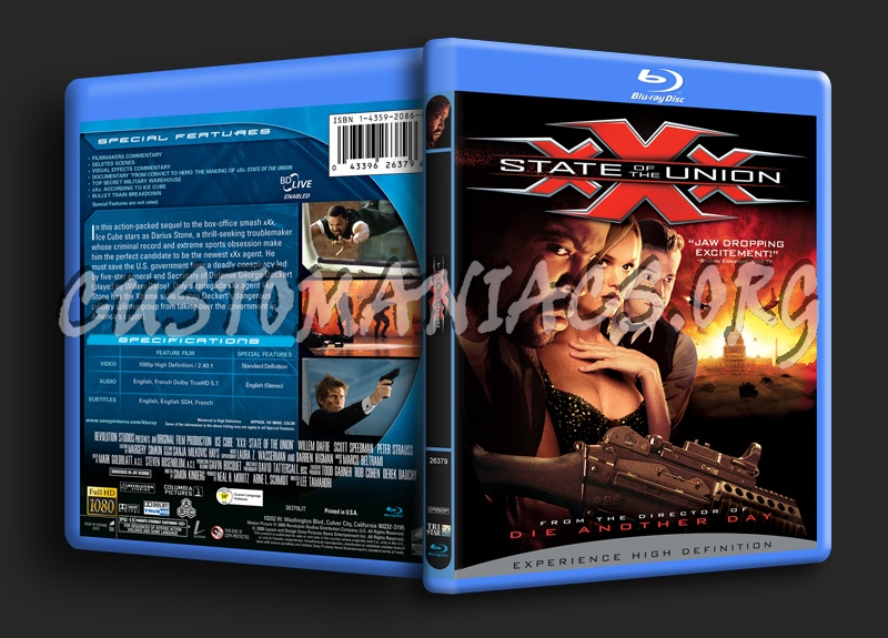 XXX State of the Union blu-ray cover