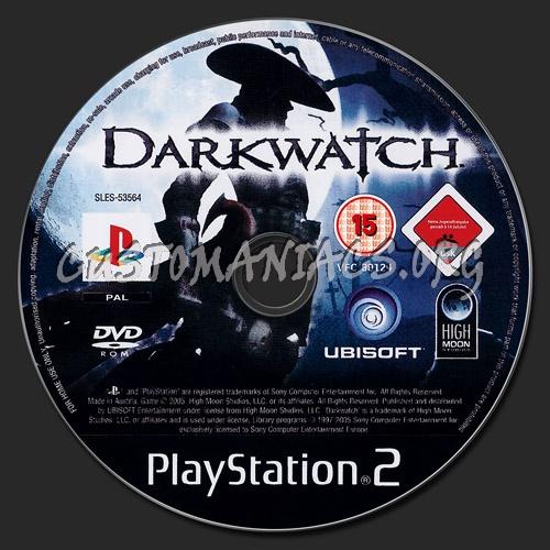 Darkwatch dvd label
