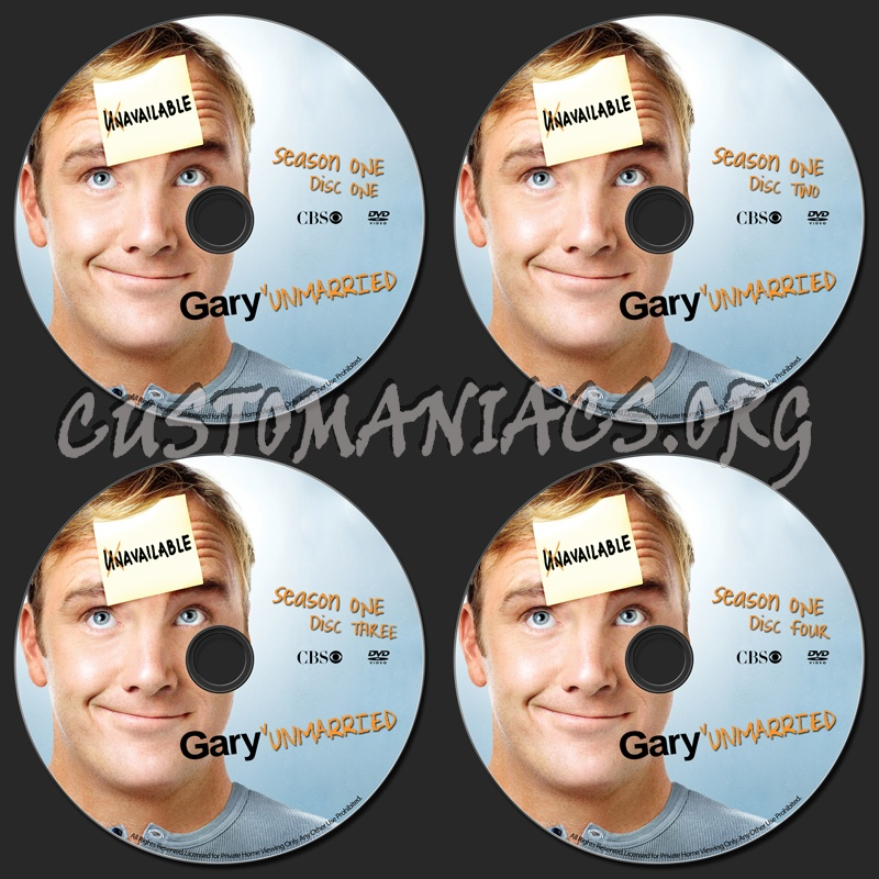 Gary Unmarried dvd label
